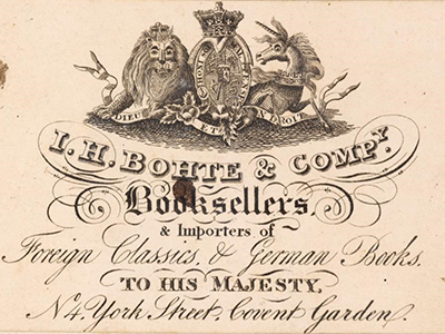 Right click to download: I.H. Bohte & Company Booksellers & importers of Foreign Classics & German Books to His Majesty