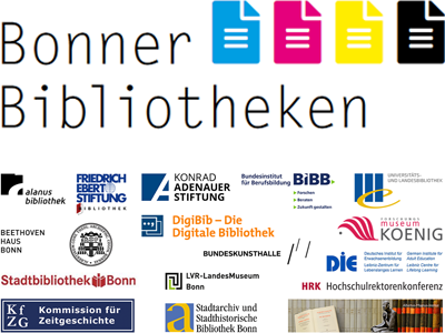Logos of the participating libraries and the logo of the cooperation BonnerBibliotheken